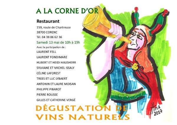 D�gustation de vins � La Corne d'or